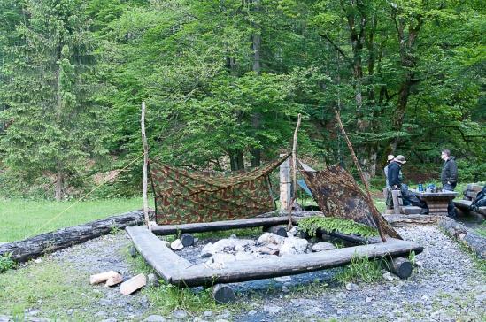 Der Anblick des Lagers bei unserer Ankunft